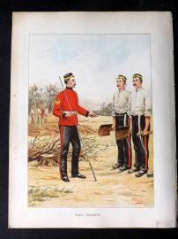 Richards Her Majesty's Army 1890 Military Print. Royal Engineers